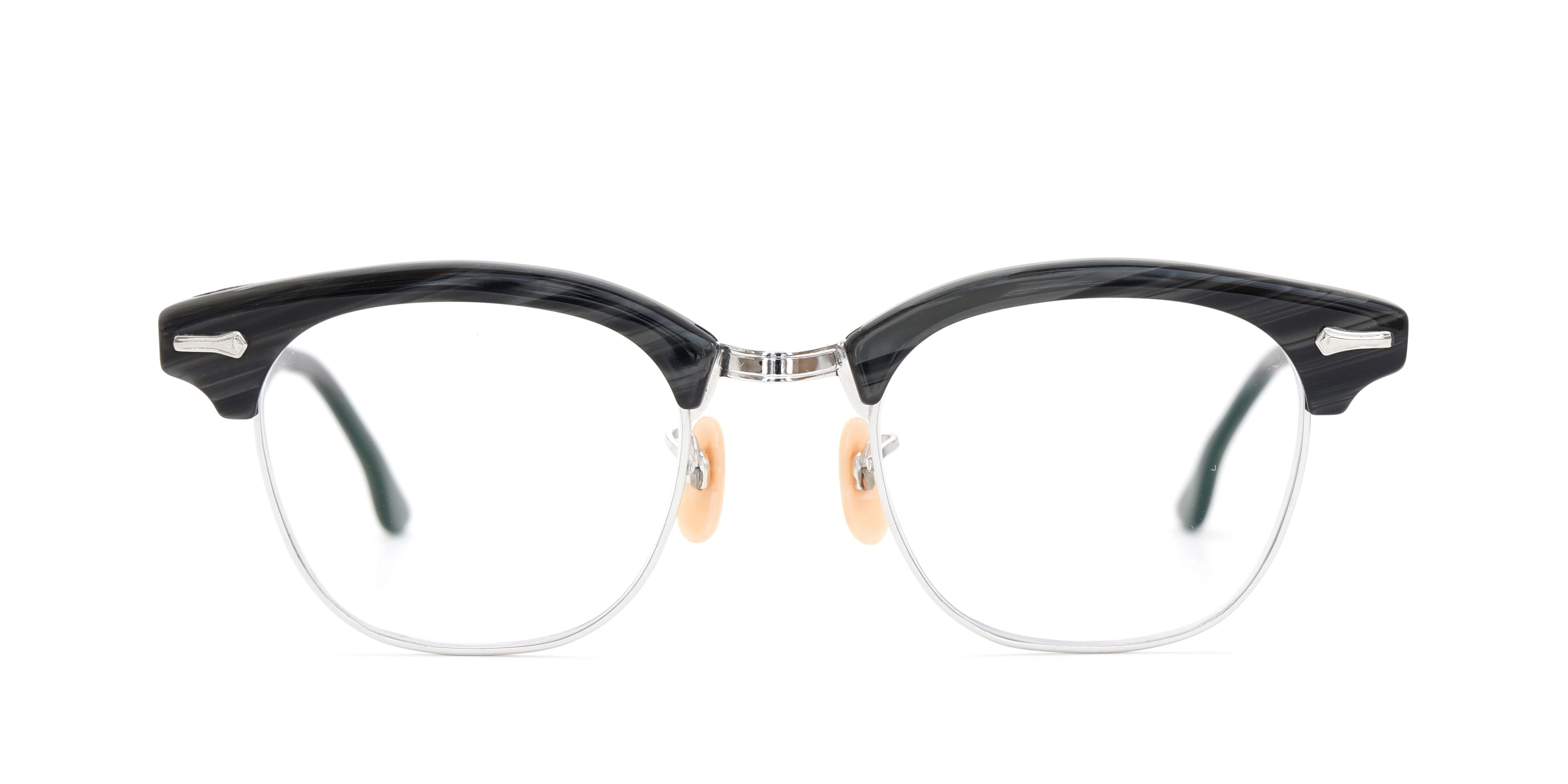 The Spectacle メガネ 1950s-1960s SHURON RONSIR Black-Stone WG 1/10 12KGF 46/20 イメージ2