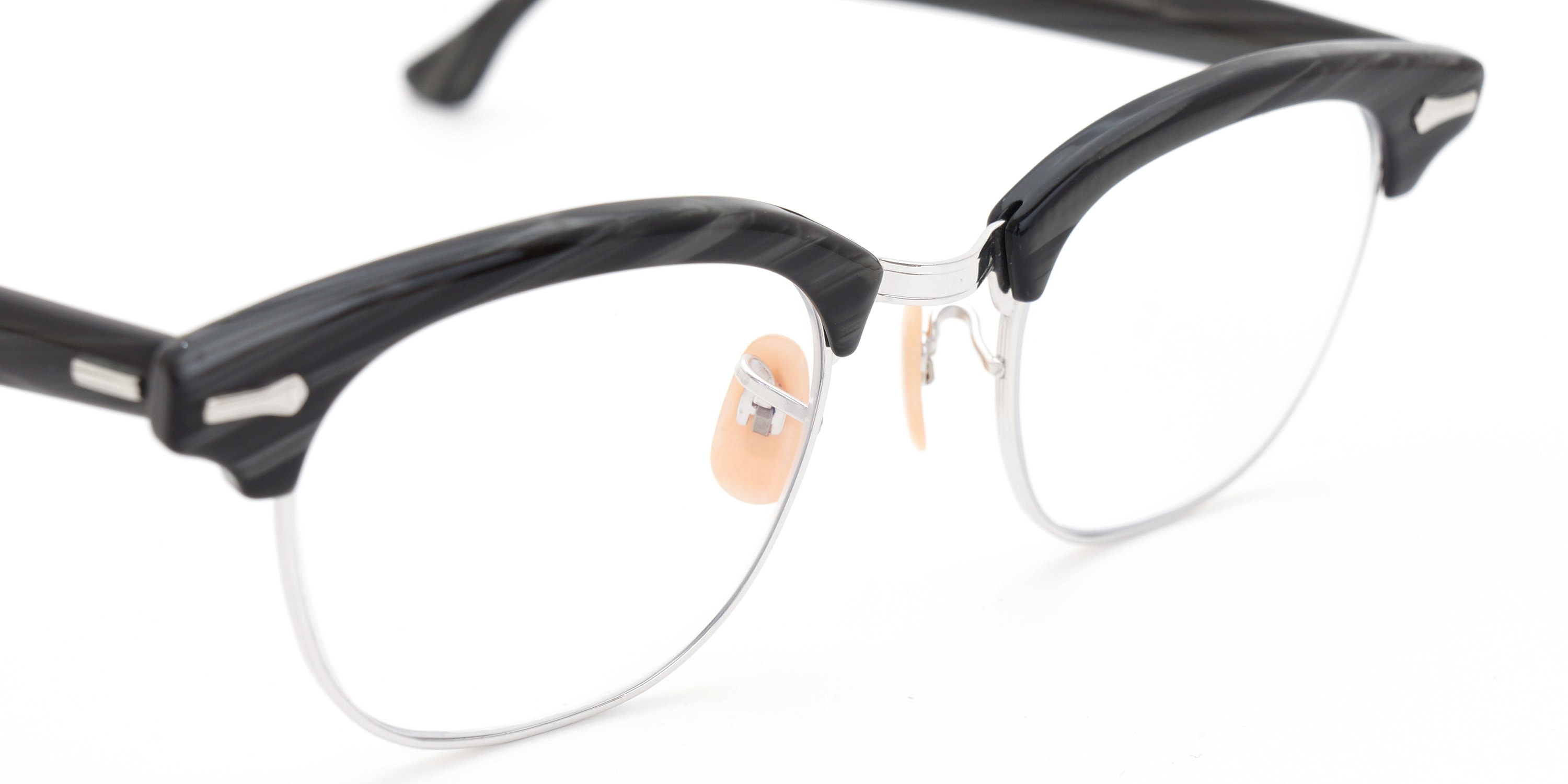 The Spectacle メガネ 1950s-1960s SHURON RONSIR Black-Stone WG 1/10 12KGF 46/20 イメージ8