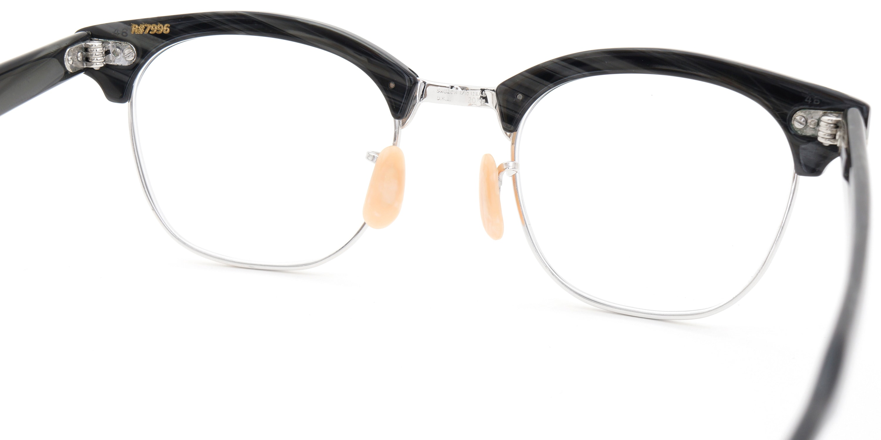 The Spectacle メガネ 1950s-1960s SHURON RONSIR Black-Stone WG 1/10 12KGF 46/20 イメージ9
