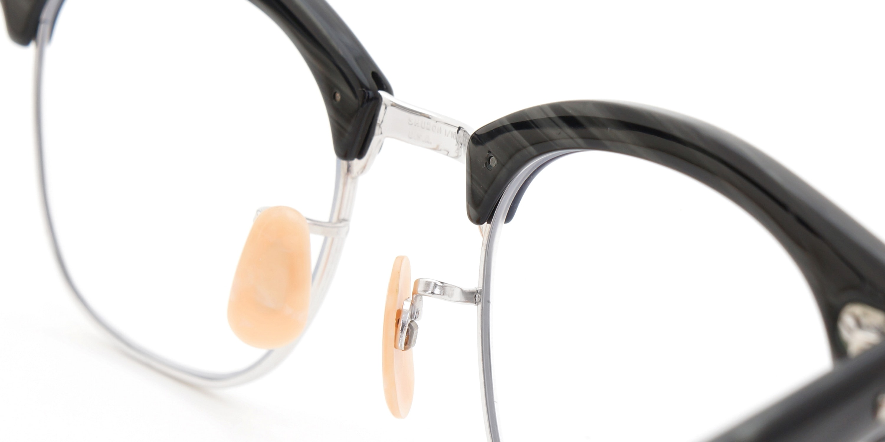 The Spectacle メガネ 1950s-1960s SHURON RONSIR Black-Stone WG 1/10 12KGF 46/20 イメージ10