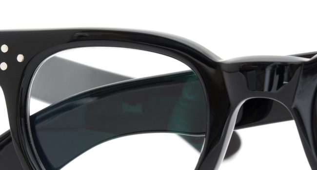 The Spectacle 1950s-70s TART OPTICAL FDR (FRAME USA) BLACK 44-24