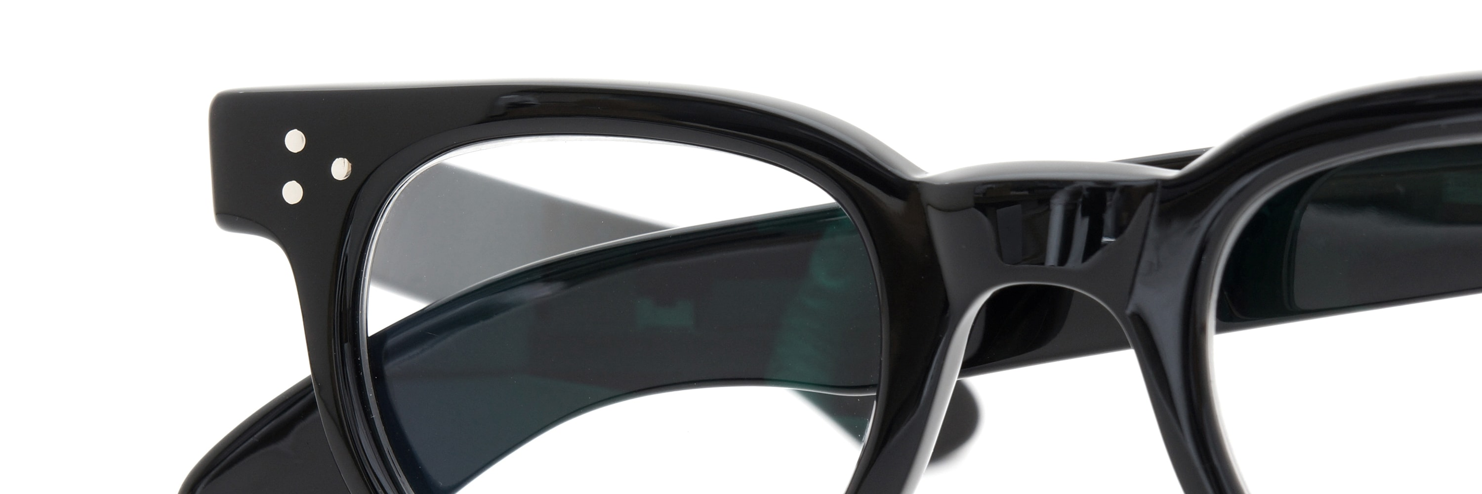 The Spectacle メガネ 1950s-70s TART OPTICAL FDR (FRAME USA) BLACK 44-24 イメージ