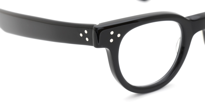 The Spectacle メガネ 1950s-70s TART OPTICAL FDR (FRAME USA) BLACK 44-24 イメージ7