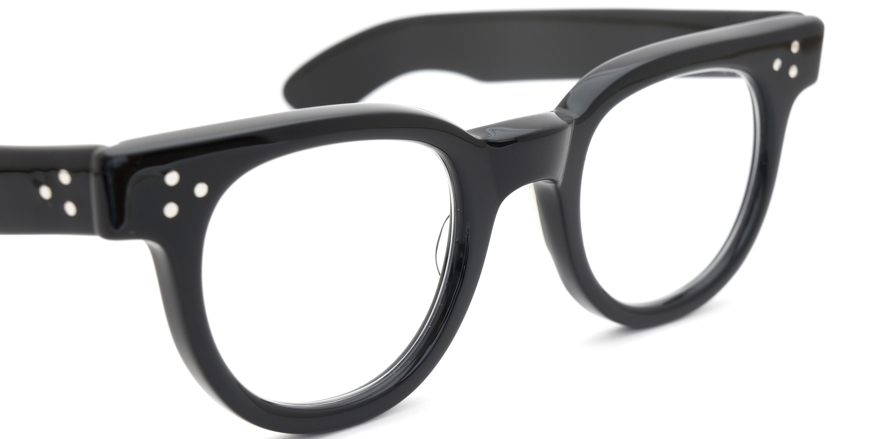 The Spectacle メガネ 1950s-70s TART OPTICAL FDR (FRAME USA) BLACK 44-24 イメージ8