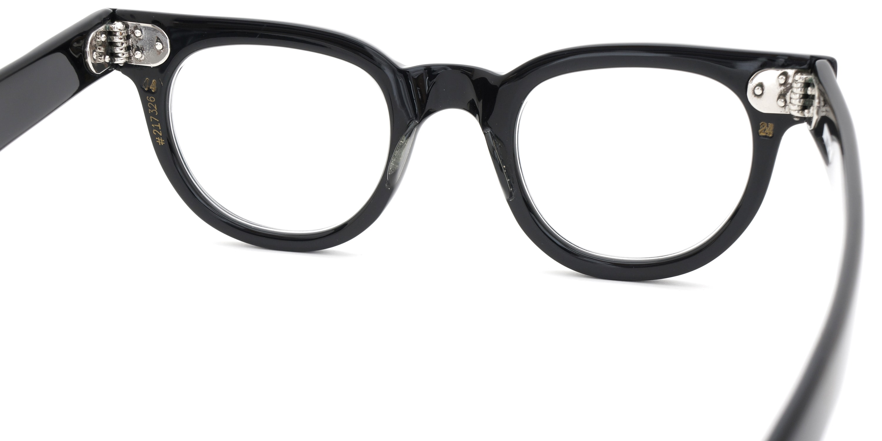 The Spectacle メガネ 1950s-70s TART OPTICAL FDR (FRAME USA) BLACK 44-24 イメージ9