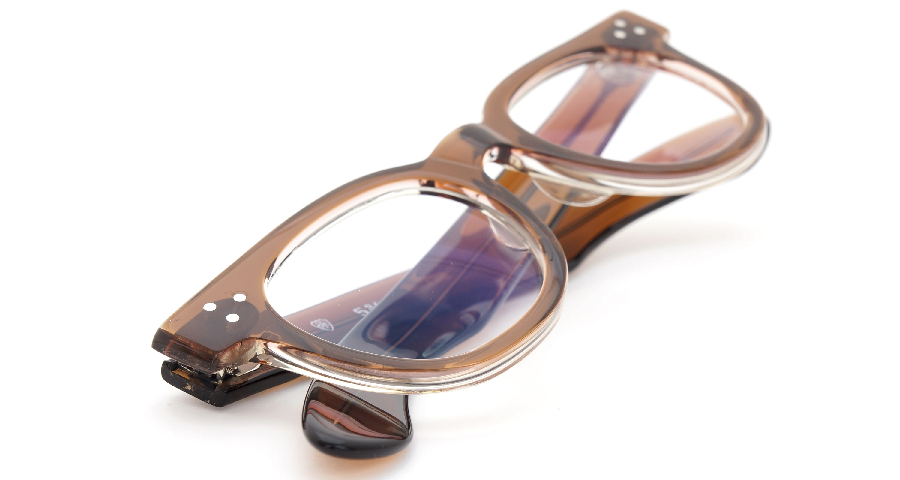 The Spectacle メガネ 1950s-70s TART OPTICAL FDR (FRAME USA) BROWN 44-22 イメージ14