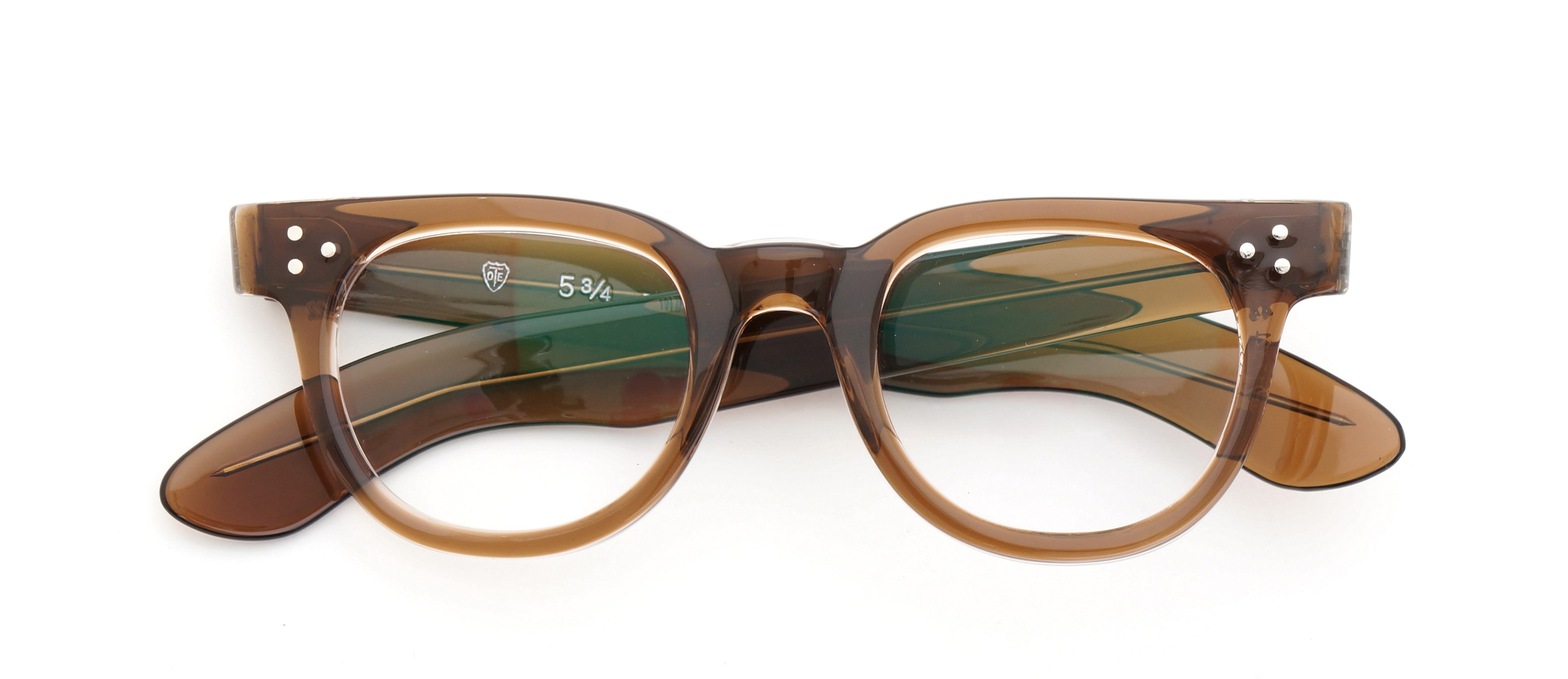 The Spectacle メガネ 1950s-70s TART OPTICAL FDR (FRAME USA) BROWN 44-22 イメージ6
