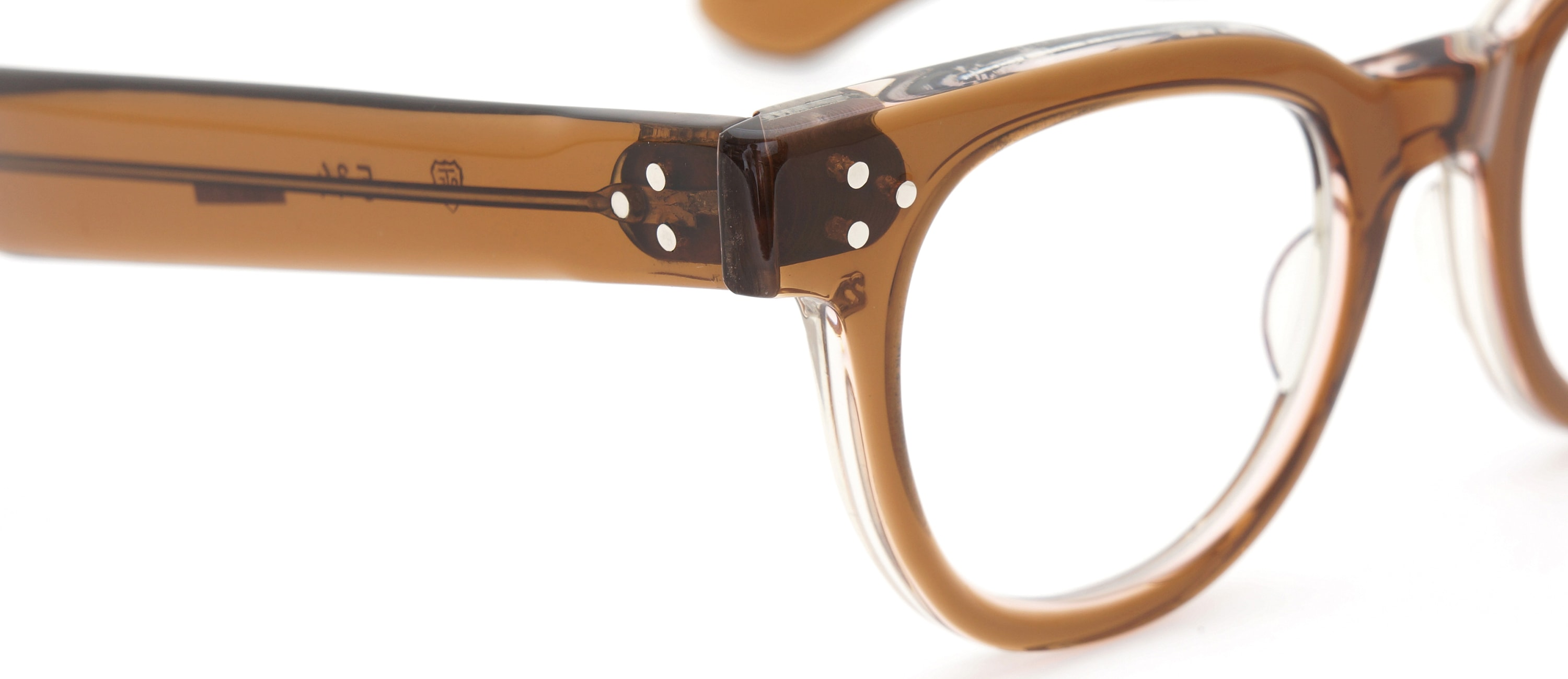 The Spectacle メガネ 1950s-70s TART OPTICAL FDR (FRAME USA) BROWN 44-22 イメージ7