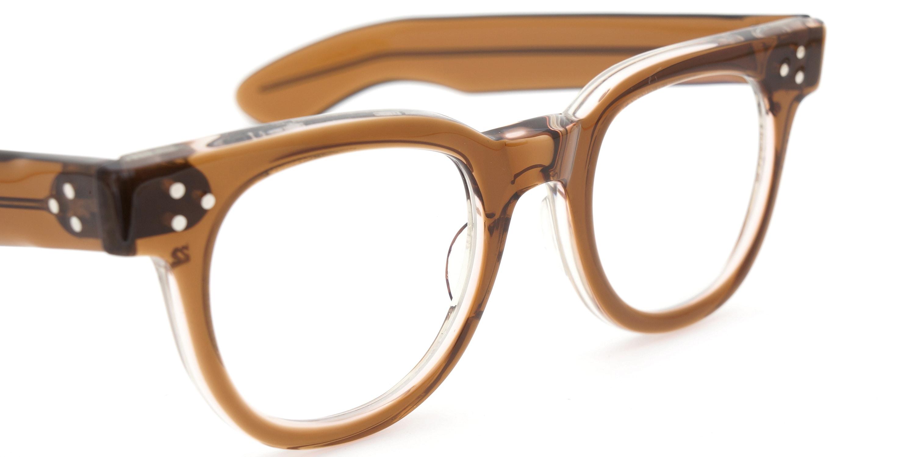 The Spectacle メガネ 1950s-70s TART OPTICAL FDR (FRAME USA) BROWN 44-22 イメージ8