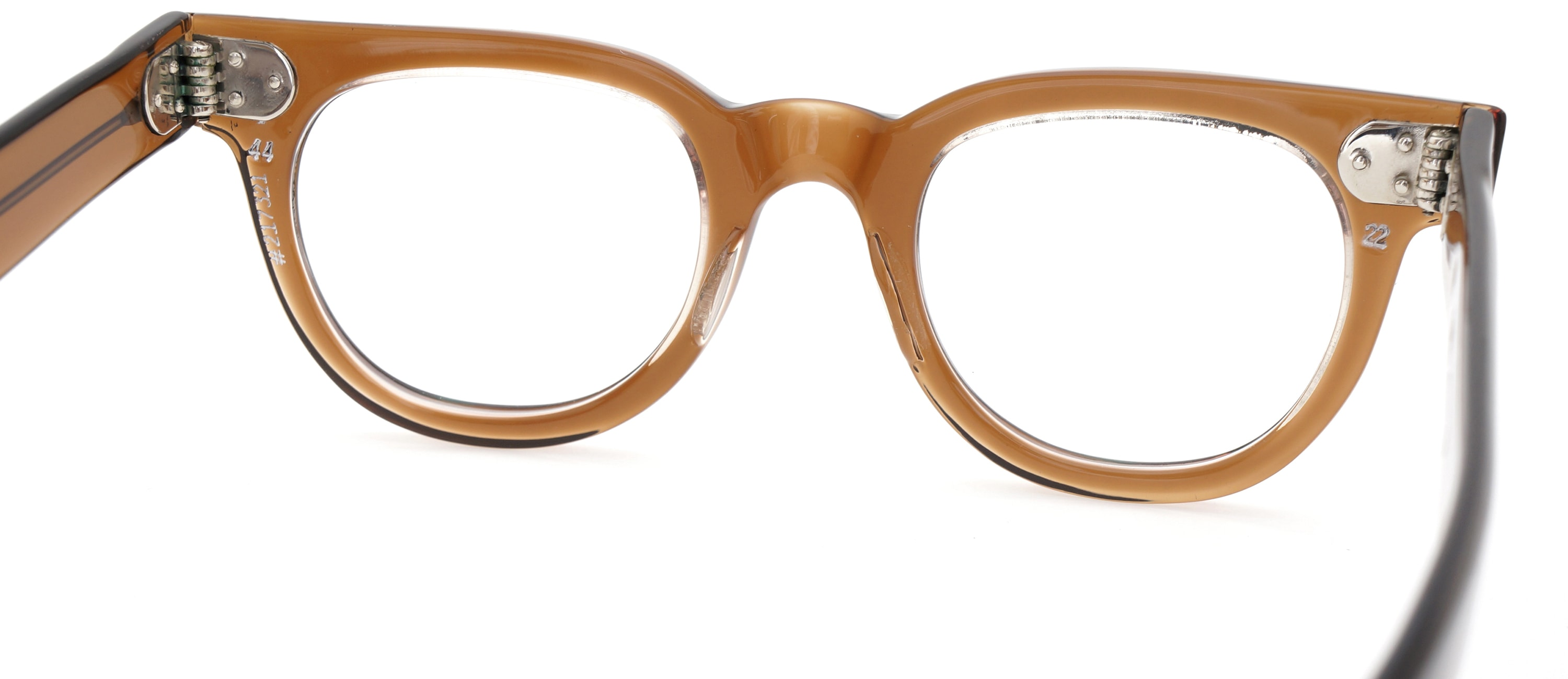 The Spectacle メガネ 1950s-70s TART OPTICAL FDR (FRAME USA) BROWN 44-22 イメージ9