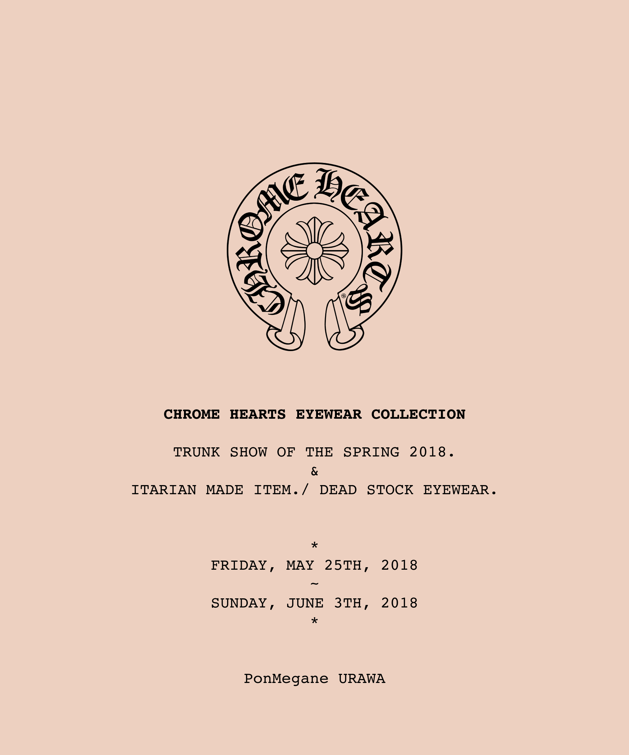 chrome-hearts 2018trunkshow