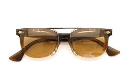 クリップオンサングラス American Optical ヴィンテージフレーム ライトブラウン_close