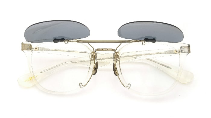 クリップオンサングラス OLIVER PEOPLES Hillerman BECR MG-AG open