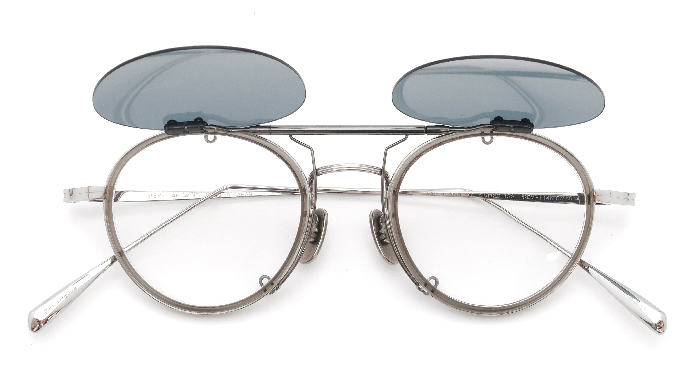 クリップオンサングラス OLIVER PEOPLES Hllerman BECR MG-AG open