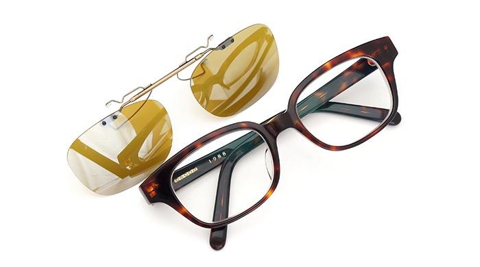 クリップオンサングラス 白山眼鏡 1988 demi SDY-AG