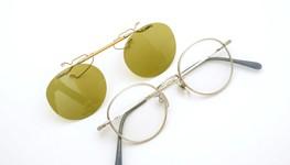 白山眼鏡 跳ね上げ式クリップオンサングラス TITANIUM C6 ライトイエローレンズ 装着例
