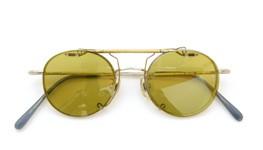 白山眼鏡 跳ね上げ式クリップオンサングラス TITANIUM C6 ライトイエローレンズ 装着例_close