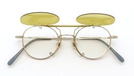 白山眼鏡 跳ね上げ式クリップオンサングラス TITANIUM C6 ライトイエローレンズ 装着例_open