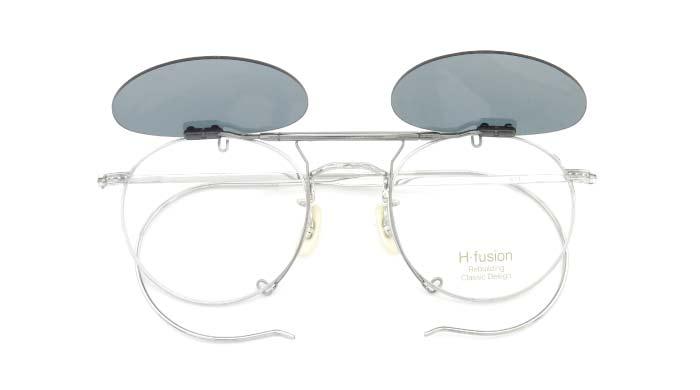 クリップオンサングラス H-fusion HF-611 Silver LTD GB/GM