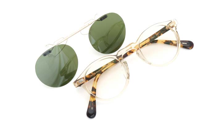 クリップオンサングラス OLIVER-PEOPLES Gregory-Peck-J BUFF RG/G