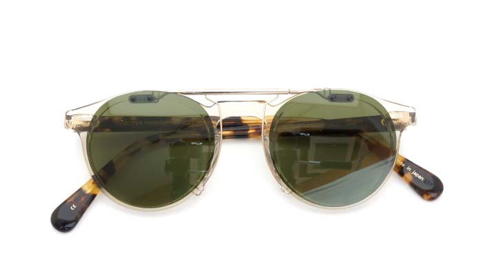 クリップオンサングラス OLIVER-PEOPLES Gregory-Peck-J BUFF RG/G close