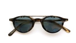 クリップオンサングラス 金子眼鏡 EKC-19 グリーンブルー _close