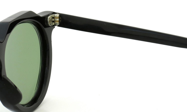 Lesca Vintage Crown-Panto type-A Black 6mm (v16) Green Lense 11
