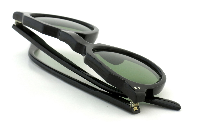 Lesca Vintage Crown-Panto type-A Black 6mm (v16) Green Lense 13