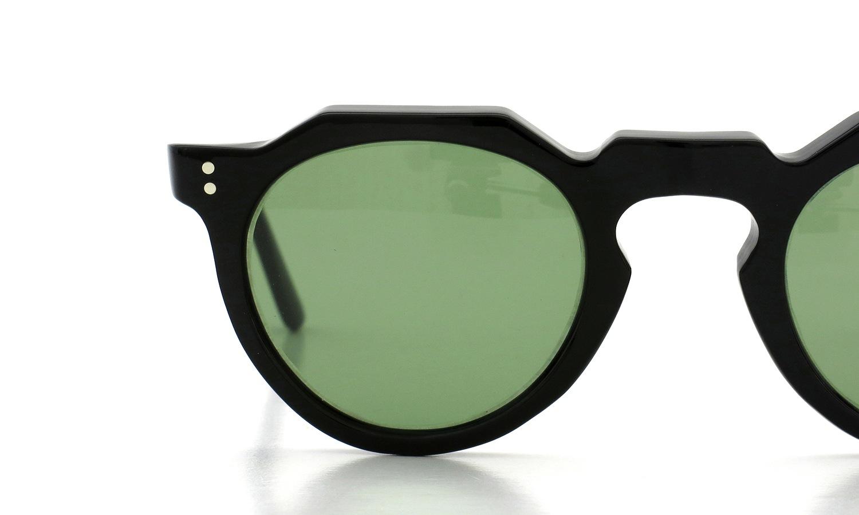 Lesca Vintage Crown-Panto type-A Black 6mm (v16) Green Lense 14