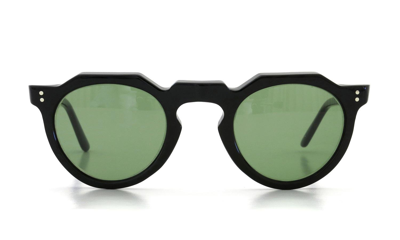 Lesca Vintage Crown-Panto type-A Black 6mm (v16) Green Lense 2