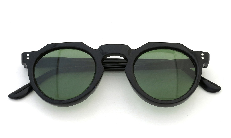 Lesca Vintage Crown-Panto type-A Black 6mm (v16) Green Lense 4
