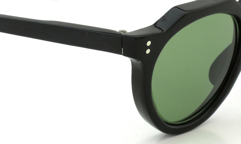 Lesca Vintage Crown-Panto type-A Black 6mm (v16) Green Lense 5