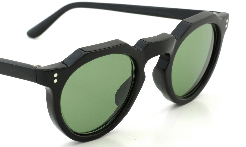 Lesca Vintage Crown-Panto type-A Black 6mm (v16) Green Lense 6