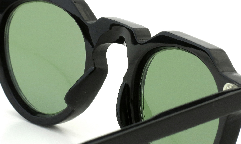 Lesca Vintage Crown-Panto type-A Black 6mm (v16) Green Lense 8