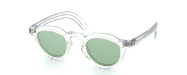 Lesca レスカ VINGTAGE Crown-Panto Clear 8mm (v3) Light-Green-Lens Fat-Temple