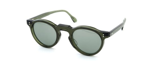 Lesca レスカ Vintage Panto type-A Green 6mm (v3) Light-Grey-lens