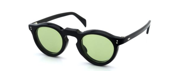 Lesca レスカ Vintage Panto Black 8mm (v3) Light-Green-Lens
