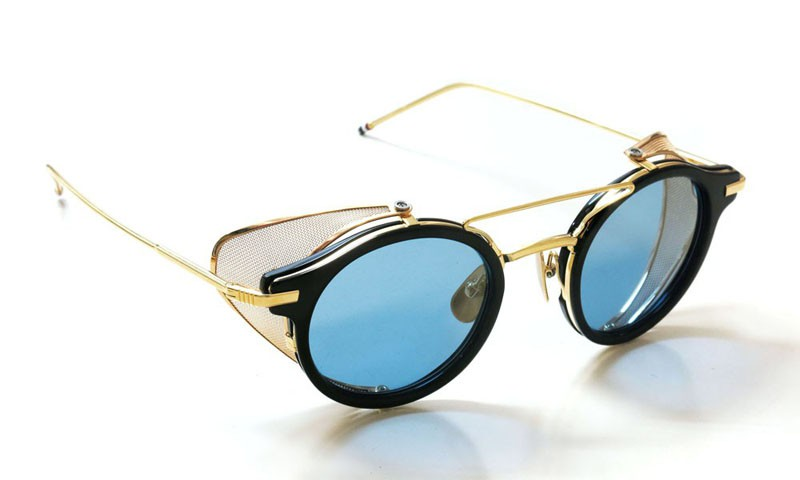 THOM BROWNE トムブラウン サングラス TB-804-B 45size Navy - 18K Gold w/Dark Blue-Gold frash-AR イメージ1
