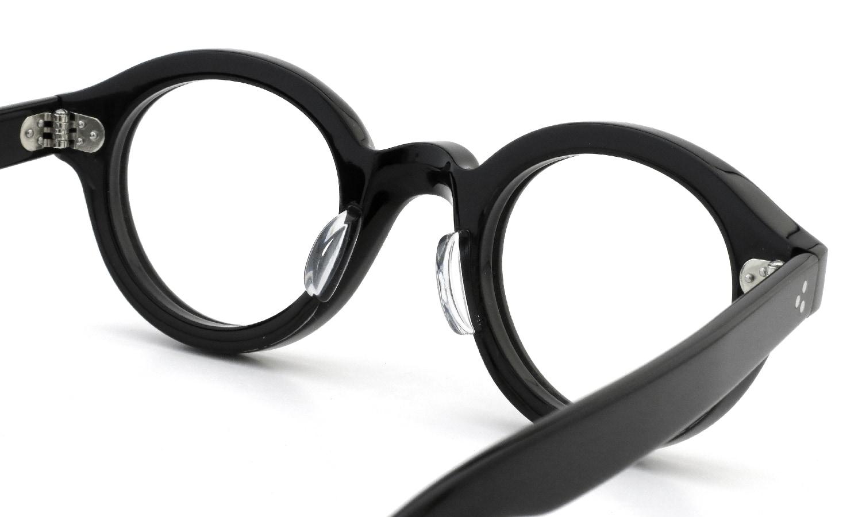 眼鏡の鼻あて・パット交換 Lesca Le Corbs BLACK 後