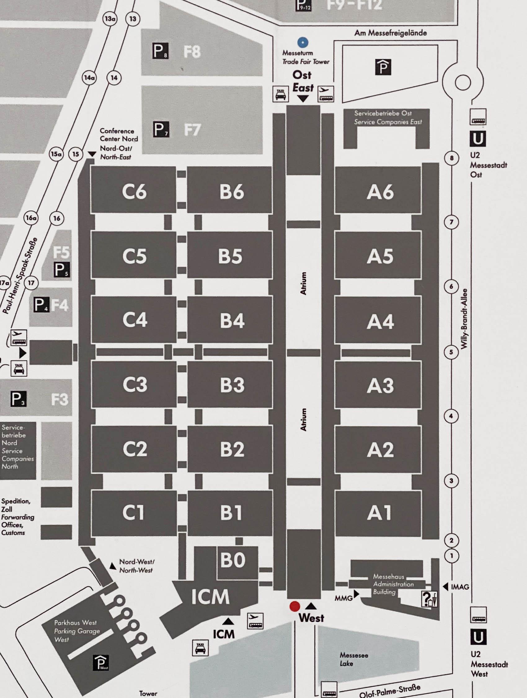 メガネの国際展示会 opti 2020 会場図