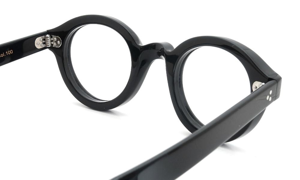 眼鏡の鼻あて・パット交換 Lesca Corbs Black 前