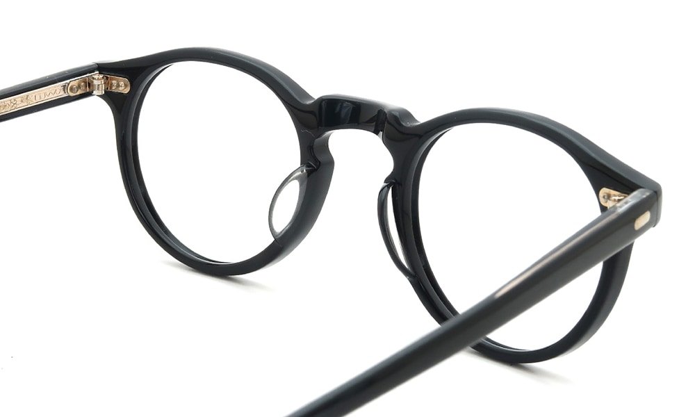 眼鏡の鼻あて・パット交換 OLIVER PEOPLES Gregory-Peck BLACK 前