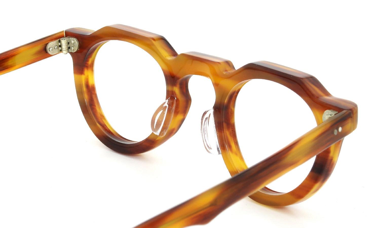 眼鏡の鼻あて・パット交換 Lesca Vintage Crown-Panto 8mm Butter-Light-Cedar 後