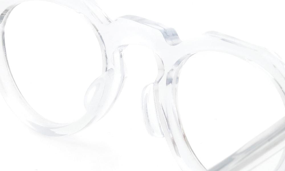 眼鏡の鼻あて・パット交換Lesca VINTAGE CROWN-PANTO 6mm CLEAR後