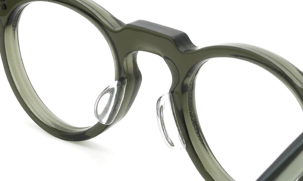 眼鏡の鼻あて・パット交換Lesca VINTAGE Panto 6mm Green 後