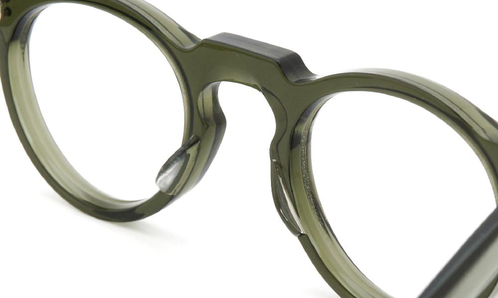 眼鏡の鼻あて・パット交換Lesca VINTAGE Panto 6mm Green 前