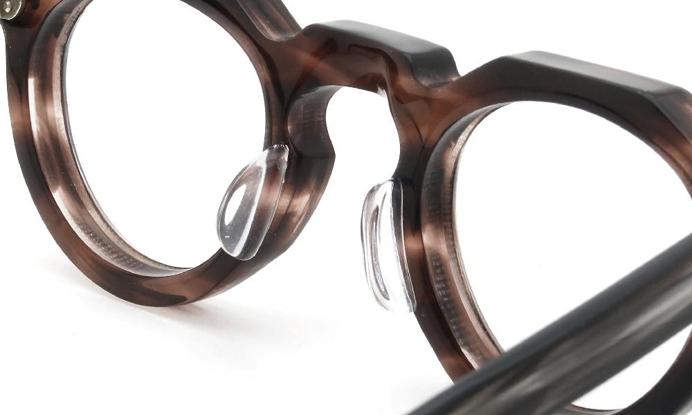 眼鏡の鼻あて・パット交換Lesca VINTAGE Crown-Panto 8mm Ash-Brown-Sasa v9 後