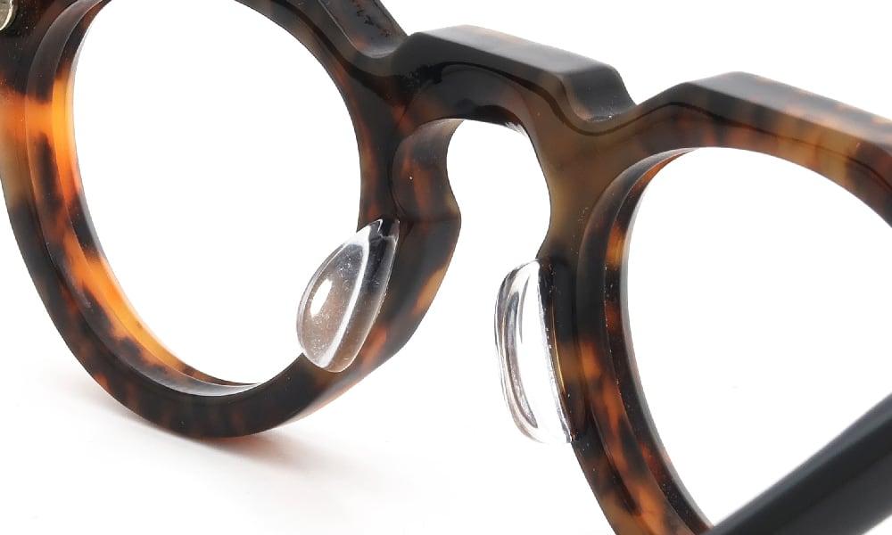眼鏡の鼻あて・パット交換 Lesca VINTAGE Crown Panto 8mm Ambre/Black 後