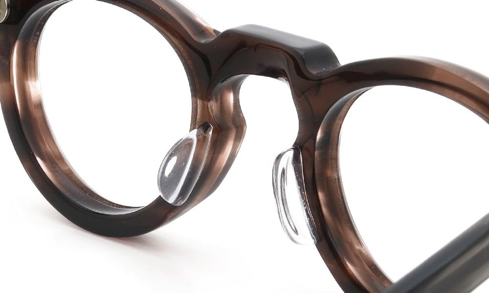 眼鏡の鼻あて・パット交換 Lesca VINTAGE Crown Panto 8mm Ash-Brown-Sasa 後
