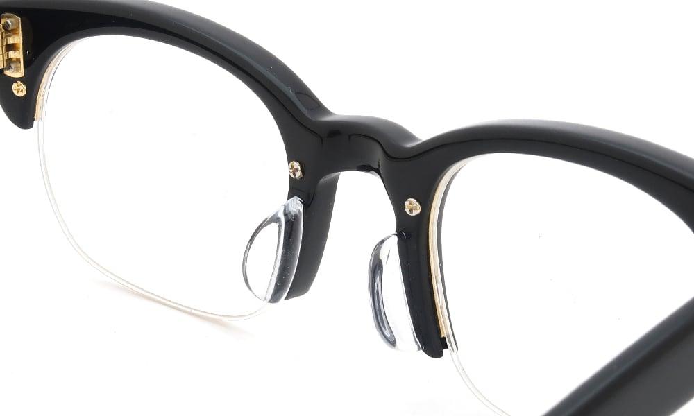 眼鏡の鼻あて・パット交換 Oliver Goldsmith NSL3 Nero 後